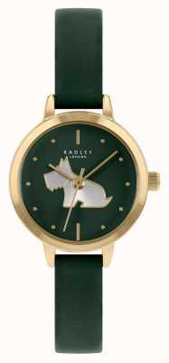 Radley Cinturino in pelle verde da donna | quadrante verde RY21256A