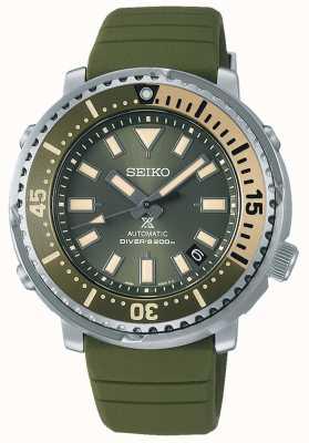 Seiko Prospex | edizione mini tuna safari della serie street | cinturino in silicone verde | SRPF83K1