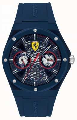 Scuderia Ferrari Aspire | cinturino in silicone blu da uomo | quadrante blu 0830788