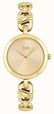 BOSS Donna | nuova catena | quadrante oro | bracciale in acciaio pvd oro 1502591