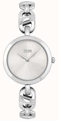 BOSS Donna | nuova catena | quadrante argento | bracciale in acciaio inossidabile 1502590