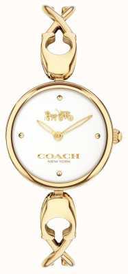Coach Caroll | quadrante bianco | acciaio placcato pvd oro 14503749