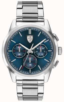 Scuderia Ferrari Grand tour | quadrante blu | bracciale in acciaio inossidabile 0830804