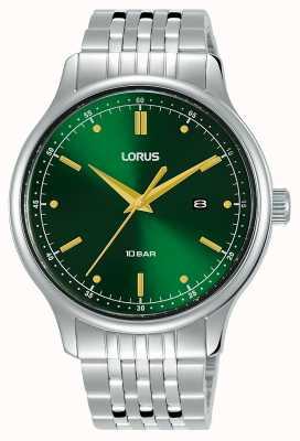 Lorus Mens | quadrante verde soleil | bracciale in acciaio inossidabile RH907NX9