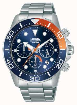 Lorus Mens | cronografo | quadrante blu | bracciale in acciaio inossidabile RT345JX9