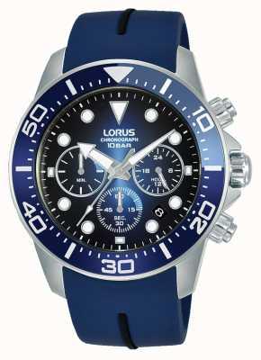 Lorus Mens | cronografo | quadrante blu | cinturino in silicone blu RT349JX9