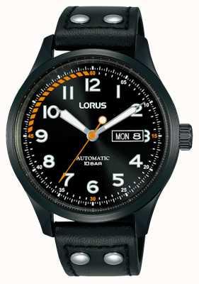 Lorus Mens | automatico | quadrante nero | cinturino in pelle nera RL461AX9