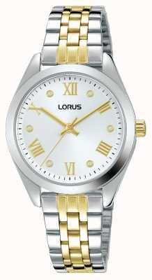 Lorus Donna | quadrante argento | bracciale in acciaio inossidabile bicolore RG253SX9