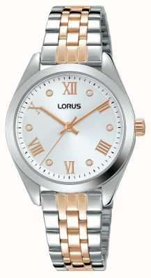 Lorus Donna | quadrante argento | bracciale in acciaio inossidabile bicolore RG255SX9