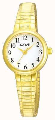 Lorus Donna | quadrante bianco | bracciale espandibile in acciaio inossidabile color oro RG236NX9
