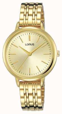 Lorus Donna | quadrante soleil oro | bracciale in acciaio placcato oro pvd RG204QX9