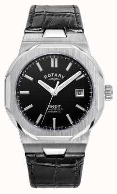 Rotary Mens | reggente | automatico | quadrante nero | cinturino in pelle nera GS05410/04