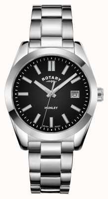 Rotary Donna | henley | quadrante nero | bracciale in acciaio inossidabile LB05180/04