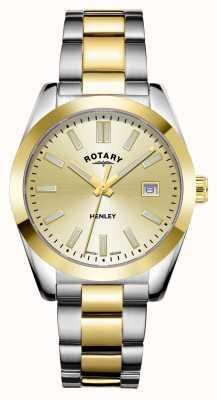 Rotary Donna | henley | quadrante champagne | bracciale in acciaio inossidabile bicolore LB05181/03