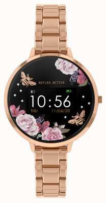 Reflex Active Orologio intelligente serie 3 | bracciale in acciaio oro rosa RA03-4012