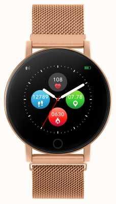 Reflex Active Orologio intelligente serie 5 | monitor HR | touch screen a colori | maglia in acciaio oro rosa RA05-4016