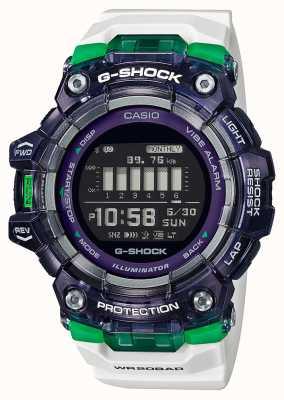 Casio G-shock | serie vitale per lo sport | cinturino in silicone bianco | quadrante nero | Bluetooth GBD-100SM-1A7ER