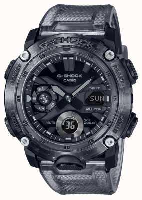 Casio G-shock | serie scheletro grigio | cinturino in plastica trasparente grigio | quadrante grigio GA-2000SKE-8AER