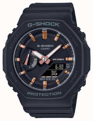 Casio G-shock di taglia media | cinturino in resina nera | quadrante nero GMA-S2100-1AER