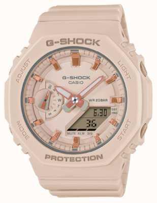Casio G-shock di taglia media | cinturino in resina rosa pallido | quadrante rosa GMA-S2100-4AER