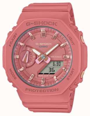 Casio G-shock di taglia media | cinturino in resina rosa | quadrante rosa GMA-S2100-4A2ER