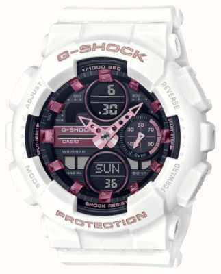 Casio G-shock | sport unisex | cinturino in resina bianca | quadrante nero GMA-S140M-7AER