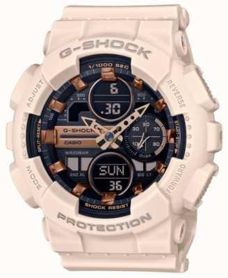 Casio G-shock | sport unisex | cinturino in resina rosa pallido | quadrante nero GMA-S140M-4AER