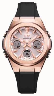 Casio G-shock | msg -rose-gold ip | cinturino in resina nera | MSG-S600G-1AER