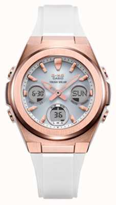 Casio G-shock | msg -rose-gold ip | cinturino in resina bianca MSG-S600G-7AER