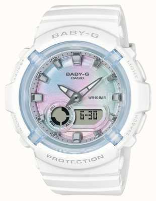 Casio Baby-g | cinturino in resina bianca | quadrante multicolore BGA-280-7AER