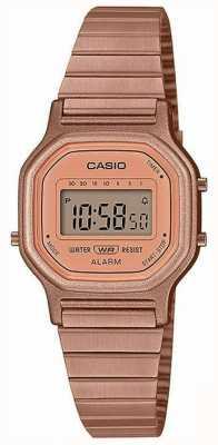 Casio Vintage | bracciale in acciaio placcato oro rosa | Display digitale LA-11WR-5AEF