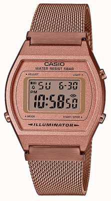 Casio Vintage | digitale | Bracciale in maglia di pvd oro rosa B640WMR-5AEF