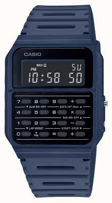 Casio Orologio calcolatrice retrò | cinturino in resina blu | quadrante nero CA-53WF-2BEF