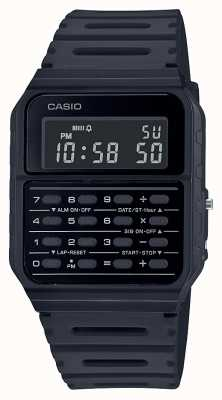 Casio Orologio calcolatrice retrò | cinturino in resina nera | quadrante nero CA-53WF-1BEF