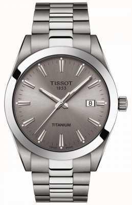 Tissot Gentlemen titanium | bracciale argento / titanio grigio | quadrante grigio T1274104408100