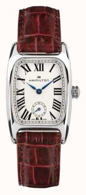 Hamilton Boulton | quadrante bianco | cinturino in pelle marrone H13321811