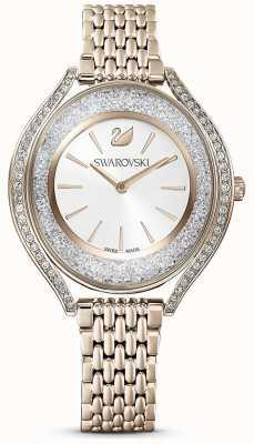 Swarovski Aura cristallina | bracciale da donna in acciaio inossidabile oro | quadrante bianco 5519456