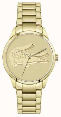Lacoste Ladycroc | bracciale placcato oro | quadrante in oro 2001175