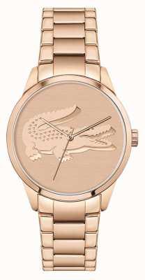 Lacoste Ladycroc | bracciale da donna in acciaio oro rosa | quadrante in oro rosa 2001172