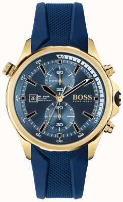 BOSS | globetrotter | cronografo | quadrante blu | cinturino in silicone blu | 1513822