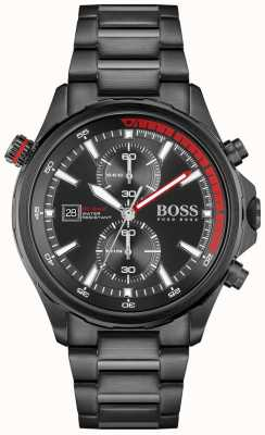 BOSS | globetrotter | cronografo | quadrante nero | bracciale in acciaio pvd nero | 1513825