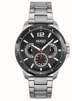 HUGO #sport | bracciale da uomo in acciaio inossidabile | quadrante nero 1530195