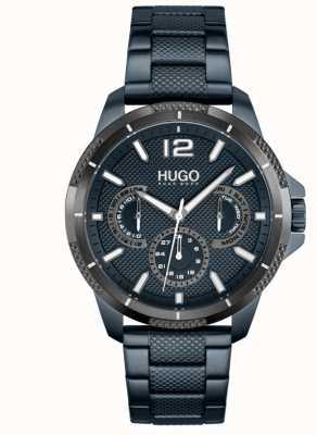 HUGO #sport | bracciale da uomo in acciaio ip blu | quadrante blu 1530194