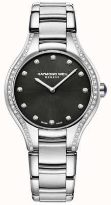 Raymond Weil Noemia | bracciale da donna in acciaio inossidabile | quadrante con diamanti 5132-STS-20081