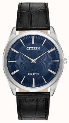 Citizen Stiletto | eco drive maschile | cinturino in pelle nera | quadrante blu AR3070-04L