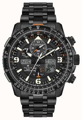 Citizen Skyhawk presso | bracciale da uomo in acciaio ip nero | quadrante nero JY8075-51E