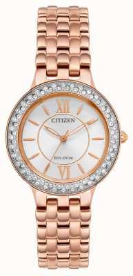 Citizen Bracciale donna eco-drive in oro rosa FE2088-54A