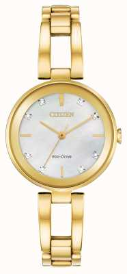 Citizen Quadrante da donna con diamanti ecologici EM0802-58D
