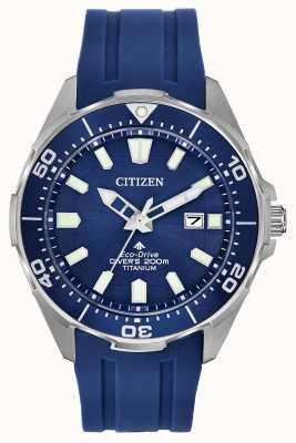 Citizen Eco-drive promaster da uomo in silicone blu BN0201-02M