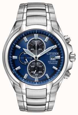 Citizen Bracciale da uomo in titanio eco-drive CA0700-51L
